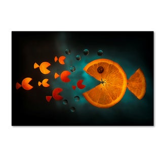 Aida Ianeva 'Orange Fish' Canvas Art