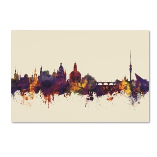 Michael Tompsett 'Dresden Germany Skyline V' Canvas Art