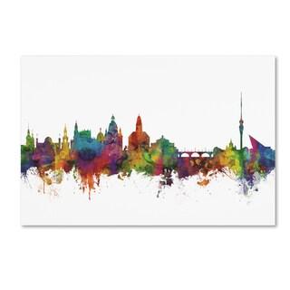 Michael Tompsett 'Dresden Germany Skyline IV' Canvas Art