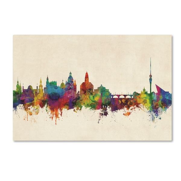 Michael Tompsett 'Dresden Germany Skyline III' Canvas Art
