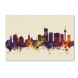 Michael Tompsett 'Essen Germany Skyline III' Canvas Art