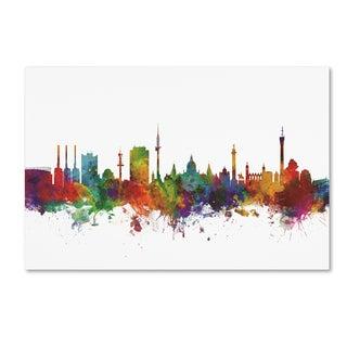 Michael Tompsett 'Hannover Germany Skyline IV' Canvas Art