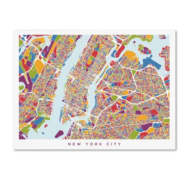 michael tompsett new york city street map