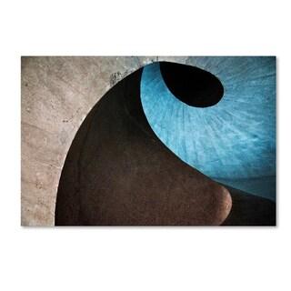 Linda Wride 'Concrete Wave' Canvas Art