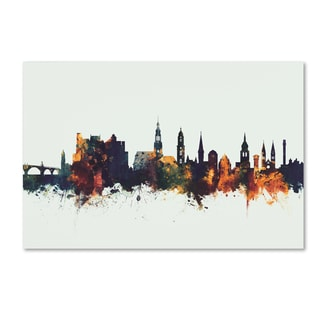 Michael Tompsett 'Heidelberg Germany Skyline II' Canvas Art
