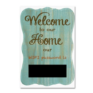 Jean Plout 'Welcome Home 7' Canvas Art