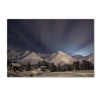 Ralf Eisenhut 'Winter evening In The Mountains' Canvas Art
