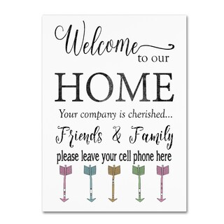 Jean Plout 'Welcome Home 6' Canvas Art