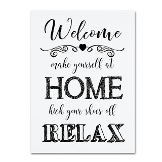 Jean Plout 'Welcome Home 3' Canvas Art