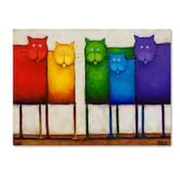 Daniel Patrick Kessler 'Rainbow Cats' Canvas Art