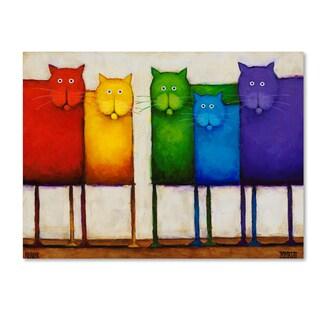 Daniel Patrick Kessler 'Rainbow Cats' Canvas Art (4 options available)