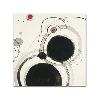Shirley Novak 'Planetary III with Red' Canvas Art