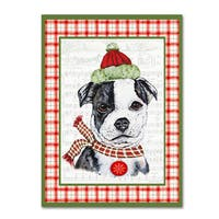 Jean Plout 'Christmas Song Dogs 7' Canvas Art