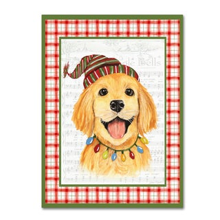Jean Plout 'Christmas Song Dogs 6' Canvas Art