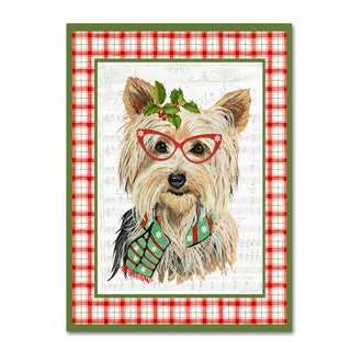 Jean Plout 'Christmas Song Dogs 5' Canvas Art