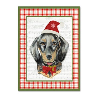 Jean Plout 'Christmas Song Dogs 4' Canvas Art
