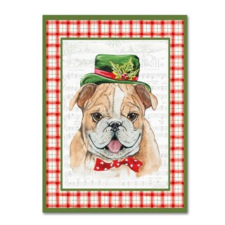 Jean Plout 'Christmas Song Dogs 3' Canvas Art