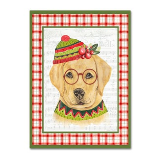 Jean Plout 'Christmas Song Dogs 2' Canvas Art