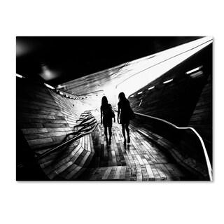 Tetsuya Hashimoto 'Walking Towards The Light' Canvas Art