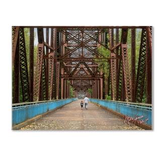 Mike Jones Photo 'Rt 66 Chain Of Rocks Bridge' Canvas Art