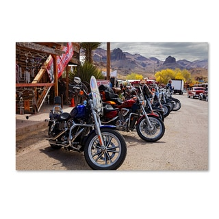 Mike Jones Photo 'Rt 66 Fun Run Oatman Motorcycles' Canvas Art