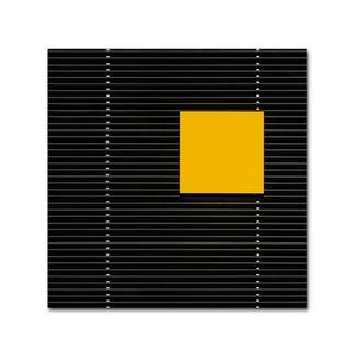 Luc Vangindertael (Lagrange) 'Yellow Square' Canvas Art