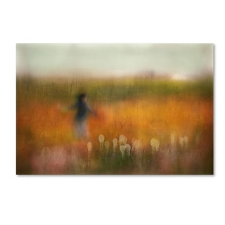 Shenshen Dou 'A Girl And Bear Grass' Canvas Art