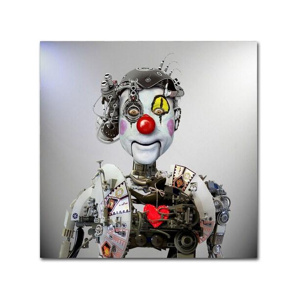 Ddiarte 'Electronic Clown' Canvas Art