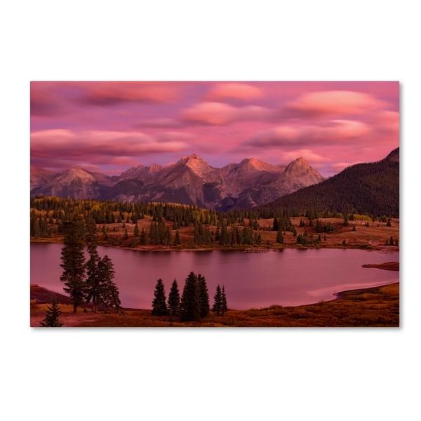 Mike Jones Photo 'Silverton Lake Dusk' Canvas Art