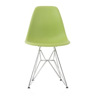 Link to CozyBlock Green Molded Plastic Dining Side Chair with Steel Wire Eiffel Legs Similar Items in Dining Room & Bar Furniture