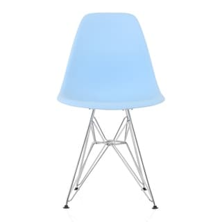 Link to CozyBlock Blue Molded Plastic Dining Side Chair with Steel Wire Eiffel Legs Similar Items in Dining Room & Bar Furniture