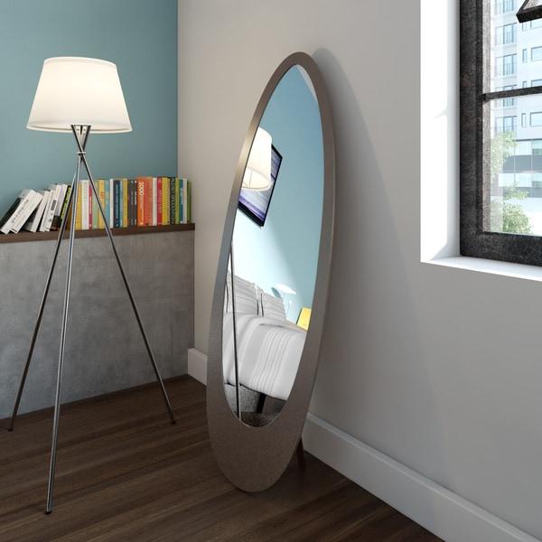 Carson Carrington Somero Cappuccino Oval Mirror