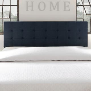 Porch Den Silver Lake Hyperion Navy Blue Tufted Fabric Headboard