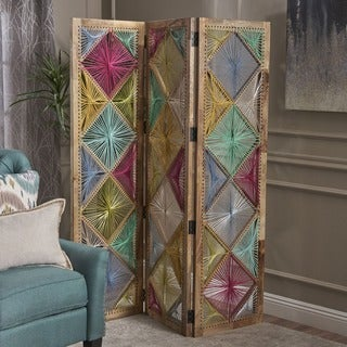 Eponine Wood Fabric Wall Divider by Christopher Knight Home