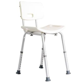 HomCom Adjustable Medical Shower Bench White
