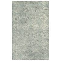 Hand-Tufted Homa Grey Wool Rug - 5' x 7'9""