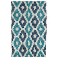 """Hand-Tufted Copal Turquoise Wool Rug - 5' x 7'9"""""""