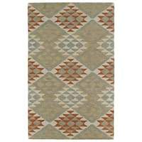 Hand-Tufted Copal Paprika Wool Rug - 5' x 7'9""