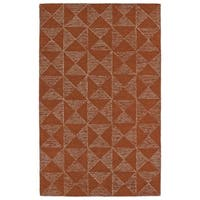"Hand-Tufted Homa Paprika Wool Rug - 5' x 7'9"""