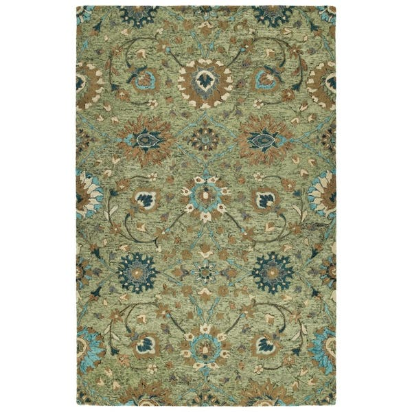 Hand Tufted Ashton Sage Wool Rug 5 X 7 9