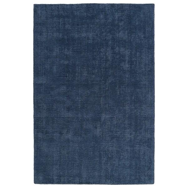 """Indoor/Outdoor Handmade Tula Blue Polyester Rug - 5' x 7'6"""""""