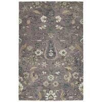 "Hand-Tufted Ashton Lilac Wool Rug - 5' x 7'9"""