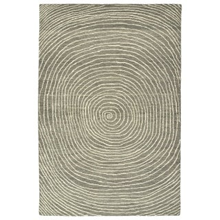 Hand-Tufted Brantley Grey Wool Rug - 5' x 7'9""