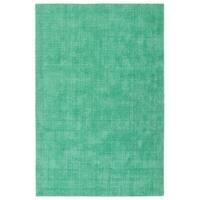 "Indoor/Outdoor Handmade Tula Mint Polyester Rug - 5' x 7'6"""