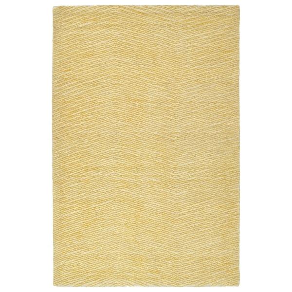 "Hand-Tufted Brantley Gold Wool Rug - 5' x 7'9"""