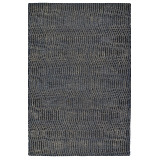 Hand-Tufted Brantley Blue Wool Rug - 5' x 7'9""