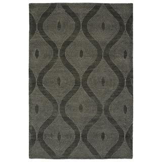 Bombay Home Brantley Hand-tufted Charcoal Wool Rectangular Indoor Rug (5' x 7'9)