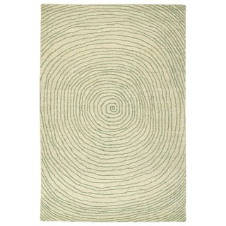 Hand-Tufted Brantley Green Wool Rug - 5' x 7'9""