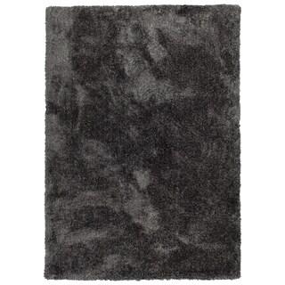 Bombay Home Silky Shag Hand-tufted Charcoal Fabric Rectangular Indoor Rug (5' x 7')