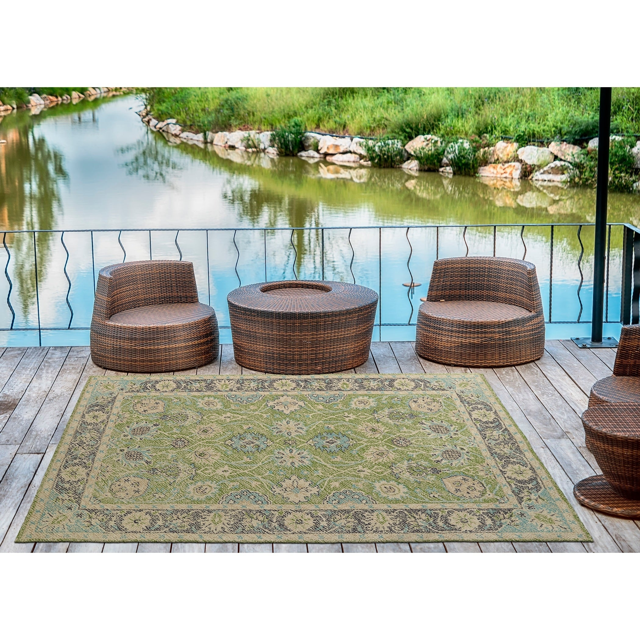Bombay Home Robinson Lime Green Indoor/Outdoor Hand-tufte...